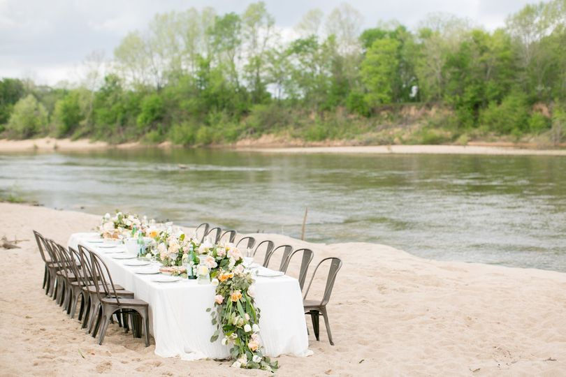 Metal chairs for receptions