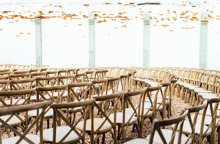 Rustic chairs with cushions