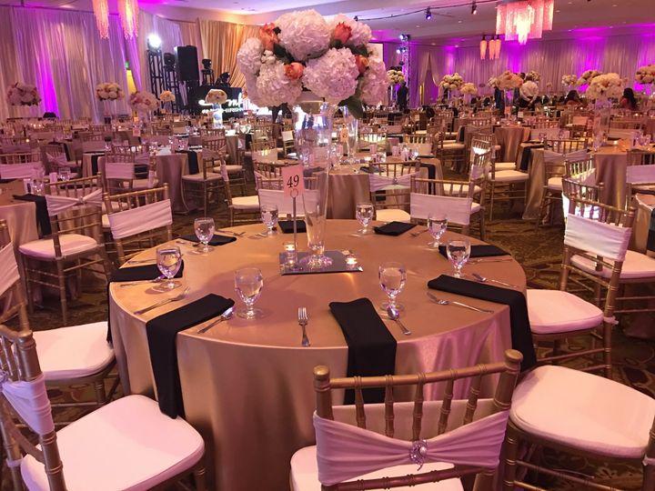 Wedding reception table setup