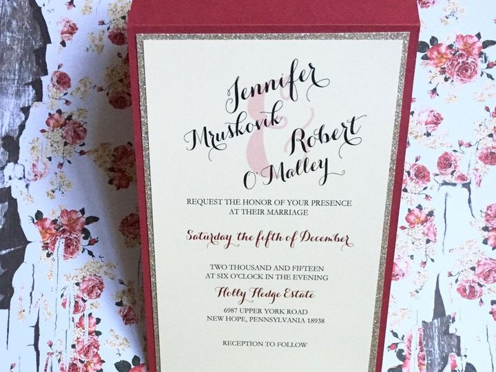 Tmx 1458740102210 Hollyhedge1 Flemington wedding invitation