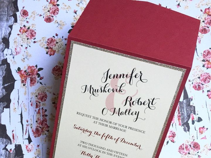 Tmx 1458740102275 Hollyhedge2 Flemington wedding invitation