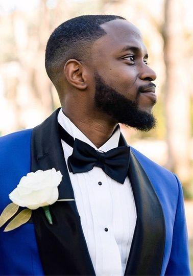 Royal blue tuxedo