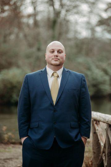 Portrait of man in suit