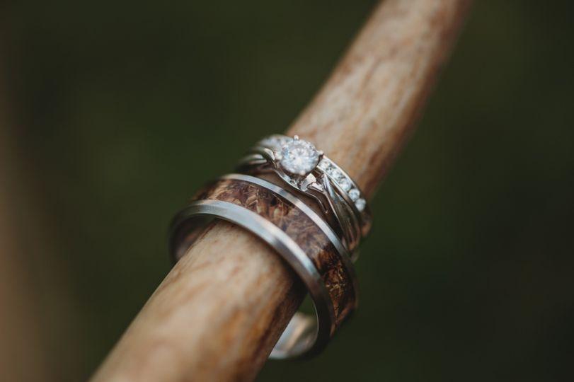 Wedding ring closeup