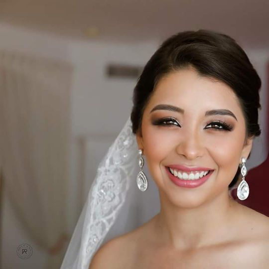 Beautiful bride ready for her wedding