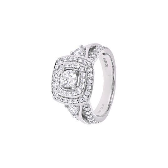 Square cut wedding ring