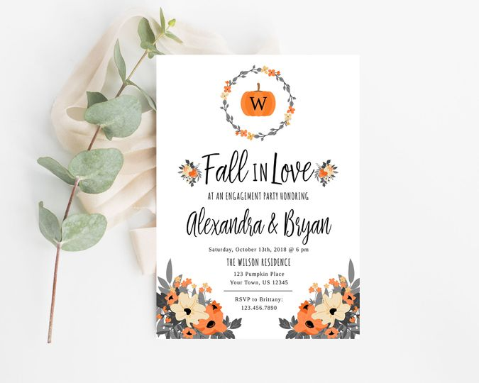 Fall in love save the date.  Order digital or printed on high quality card stock or as magnets!