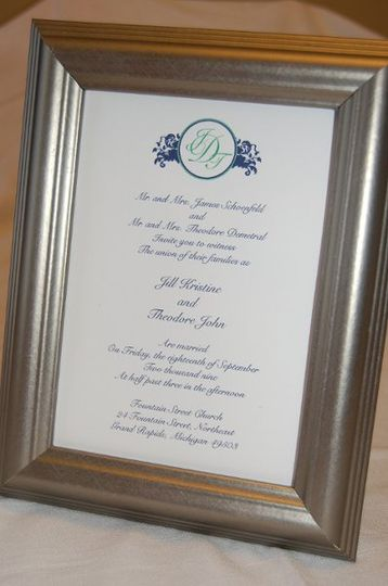 Monogrammed Wedding Invitation