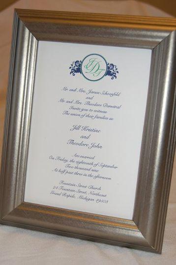 Monogrammed Invitation