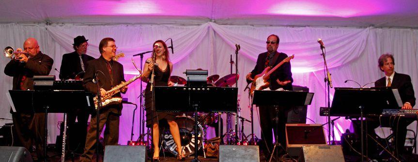 The band serenading guests