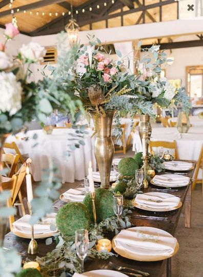 Raised floral decor