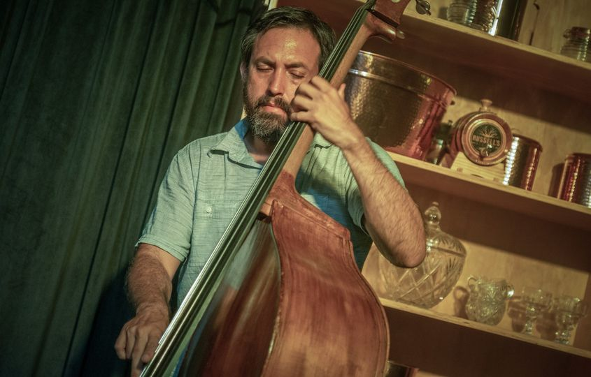 Upright bass player