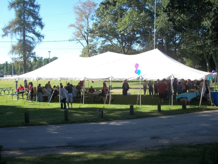 Catering tent, sides can be added for inclement weather