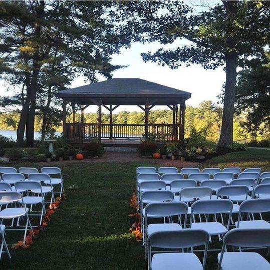 Gazebo set for fall wedding