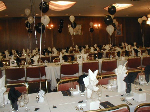 Client wanted to have her 40th birthday, but was on a very, very, very tight budget. Balloons, black...
