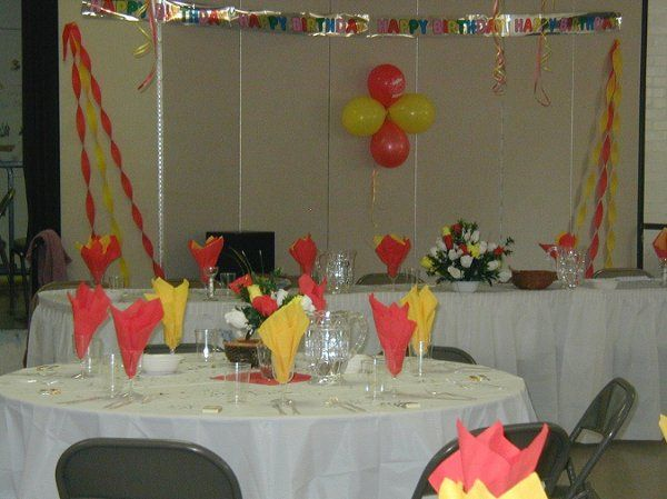 Client threw a surprise birthday party for her mother. Because of fund she wanted to do the party...
