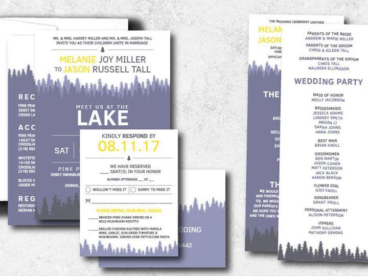 Tmx 1522944806 F6cccf228410d4ab 1522944806 68e66831a4e106d7 1522944801996 2 Melaniejason 01 Minneapolis, Minnesota wedding invitation