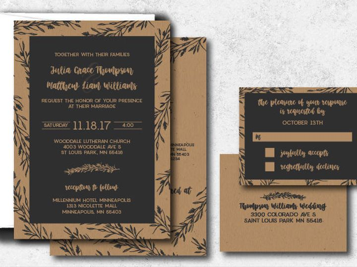 Tmx 1522944807 8a4f3bd540570efe 1522944806 2bb4df6d9c7eaeca 1522944801997 4 Juliamatthew 01 Minneapolis, Minnesota wedding invitation