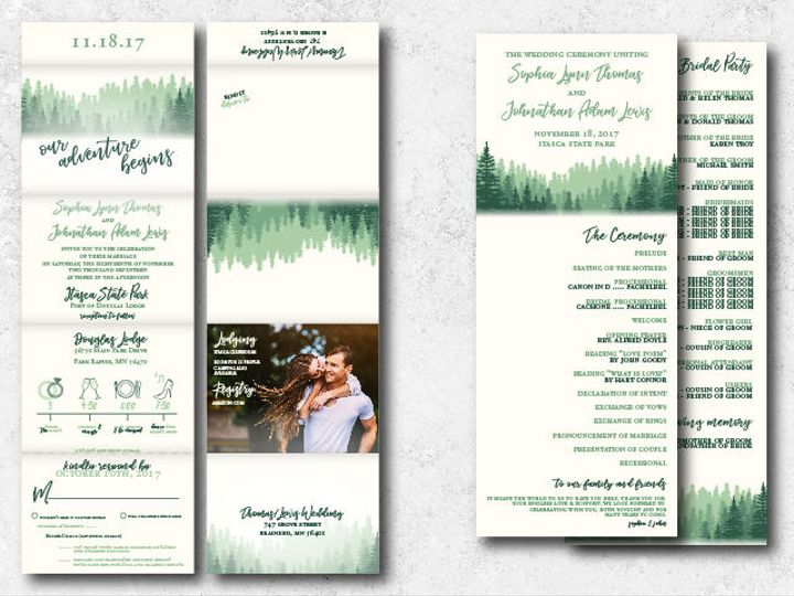 Tmx 1522944807 C69cefea97a1982d 1522944805 Fcf06ea0bbe15be5 1522944801994 1 Sophiajon 01 Minneapolis, Minnesota wedding invitation