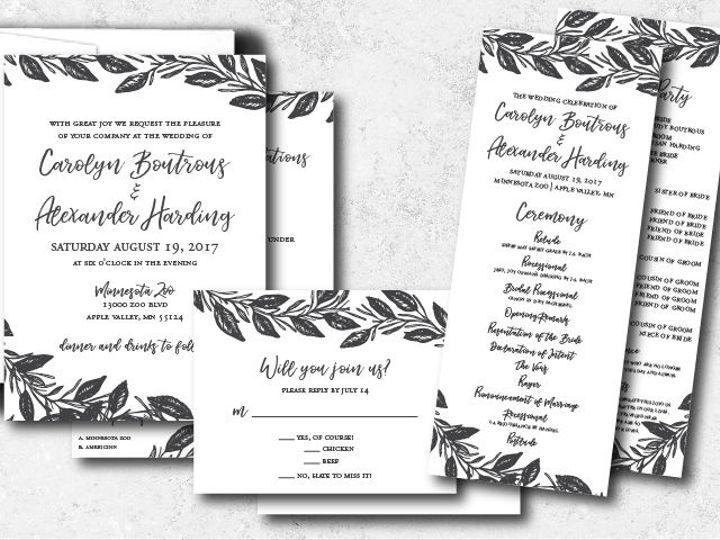 Tmx 1522944808 2b708a7dbb02f347 1522944807 944358aae331057f 1522944801999 9 Carolynalexander 0 Minneapolis, Minnesota wedding invitation