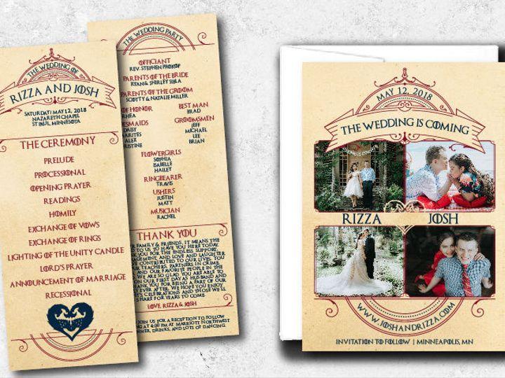 Tmx 1522944816 879334d7b32d7ce5 1522944815 F98ba502214fe2bf 1522944802002 14 Rizzajosh 01 Minneapolis, Minnesota wedding invitation