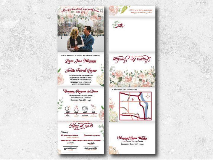 Tmx 1522944817 7b94d648d770a23d 1522944815 C452b9288215f7a5 1522944802004 17 Laurajordan 01 Minneapolis, Minnesota wedding invitation