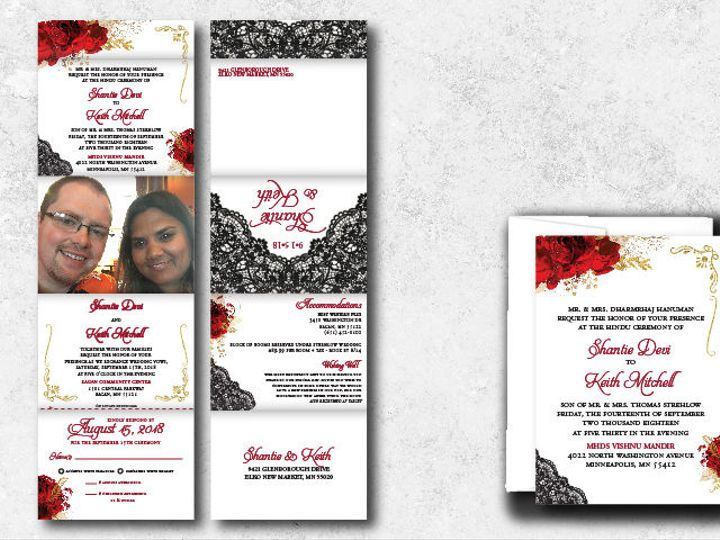 Tmx 1538163650 D9c1e5dd2e89fc55 1538163648 02cbd7592ca0b5c5 1538163624735 10 Shantiekeith 01 Minneapolis, Minnesota wedding invitation