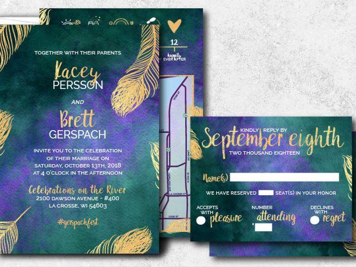 Tmx 1538163658 73ecf10795f77ee7 1538163657 1071e317cd47d53f 1538163624736 12 Kaceybrett 01 Minneapolis, Minnesota wedding invitation