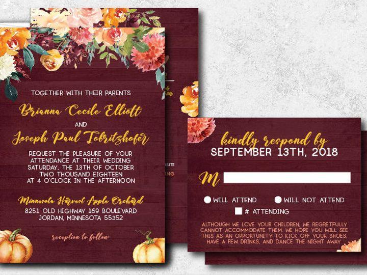 Tmx 1538163658 8f15dc734e645dcc 1538163657 995edb8b0b71f5cf 1538163624736 11 Briannajoe 01 Minneapolis, Minnesota wedding invitation