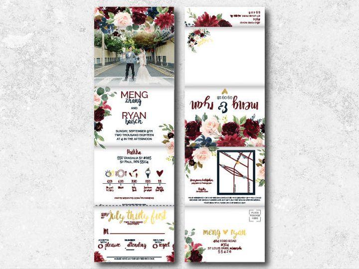 Tmx 1538163659 164644f453c7ad6e 1538163657 302e166cc4285398 1538163624736 13 Mengryann 01 Minneapolis, Minnesota wedding invitation