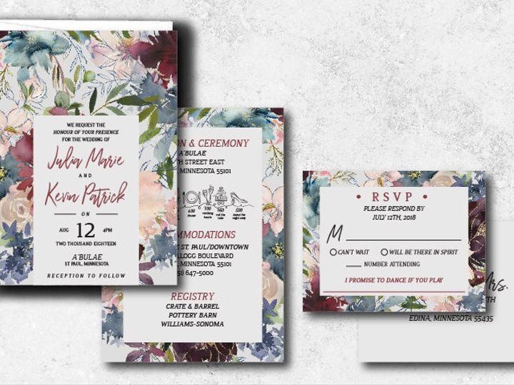 Tmx 1538163659 3c650c4fdf7fe489 1538163658 1a65d521c7204b75 1538163624737 17 Juliakevin 01 Minneapolis, Minnesota wedding invitation