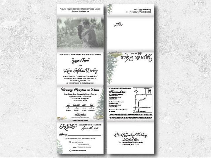Tmx 1538163659 9fa5c394c0b76b39 1538163657 22cb4c875a575374 1538163624736 15 Kevinyejin 01 Minneapolis, Minnesota wedding invitation