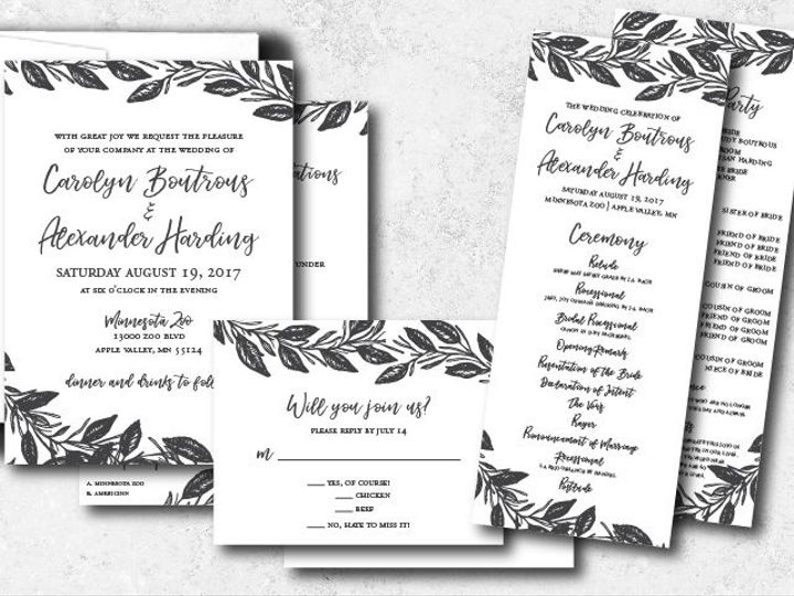 Tmx 1538163670 79e5fb3b1a613fe4 1538163669 3fec8eb9493927a6 1538163624742 30 Carolynalexander  Minneapolis, Minnesota wedding invitation