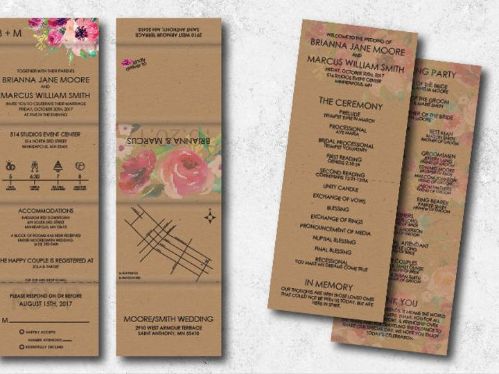 Tmx 1538163678 79ae48d23fd035a5 1538163677 75b8ce6b30ef42ab 1538163624743 31 Briannamarcus 01 Minneapolis, Minnesota wedding invitation