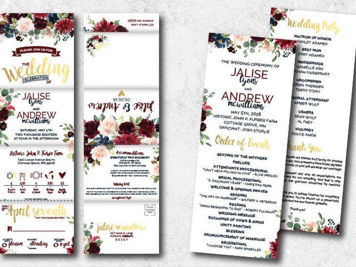 Tmx 1538163687 6548fe5abb3bd218 1538163686 E889645087bfce17 1538163624748 44 Jaliseandrew 01 Minneapolis, Minnesota wedding invitation