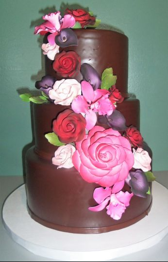 Chocolate covered in roses