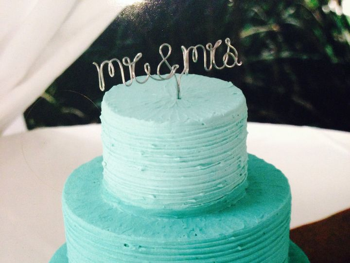 Tmx 1480710054923 Blue Ombre Mr Mrs Wwwcutecakes Sdcom11801776714l Escondido, CA wedding cake