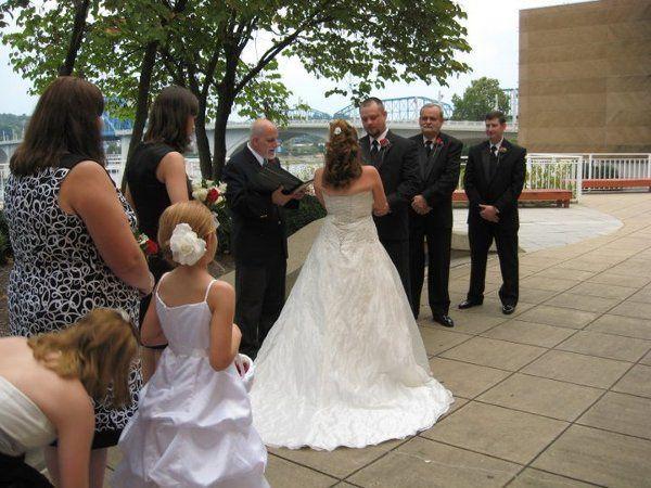 Wedding Outside Tn. Aquarium (Chattanooga)
