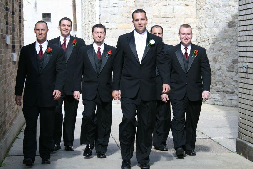 Groom and groomsment