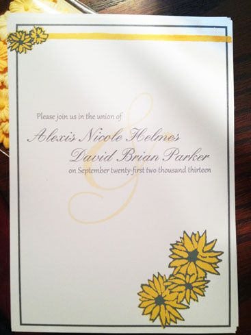Wedding Invitations  I created these beautiful screen printed wedding invitations for a southern...