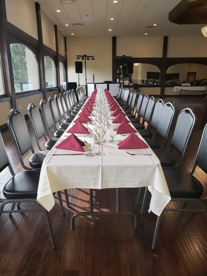 Long bridal party table