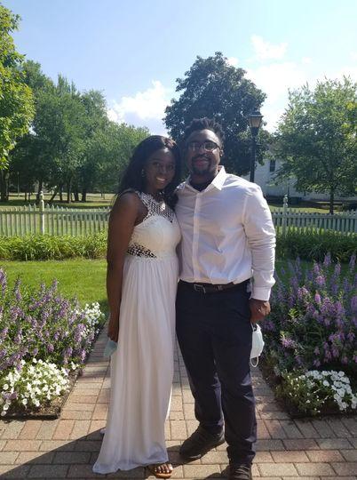 Beautiful backdrop wedding