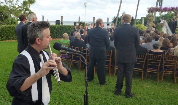 Performing at a wedding ceremony at the Ocean Reef Club in Key Largo, Florida