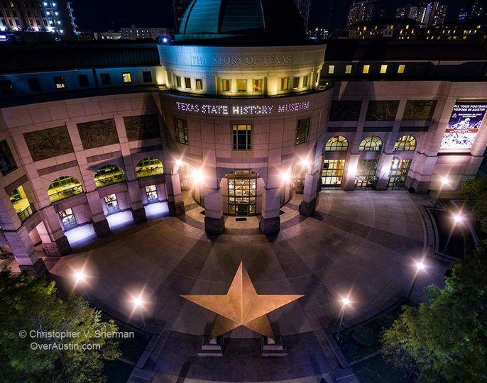 Lone Star Plaza at night
