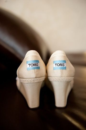 The bride wanted stylish comfort - these TOMS were the perfect choice.