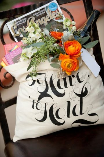 we created these beautiful welcome bags for hotel guests to enjoy a little of Los Angeles during the...