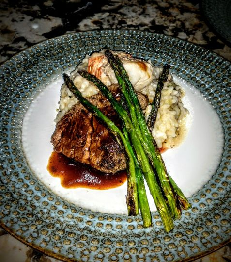 Filet and Lobster Risotto