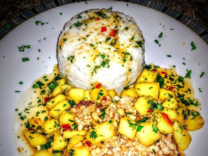 Tmx Encrusted Snook With Mango Salsa And Coconut Sticky Rice 51 1866689 1568427541 Merritt Island, FL wedding catering