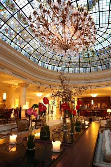 Another view of our gorgeous lobby, the skylight is still in the original style that it was when it...