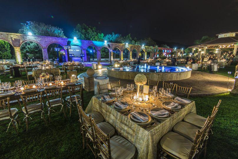Outdoor hacienda reception